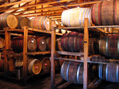 Barrels at the Old Winery